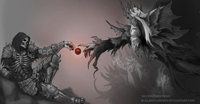 Dark souls - Creation of the Darkwraith by RuslanHuadonov