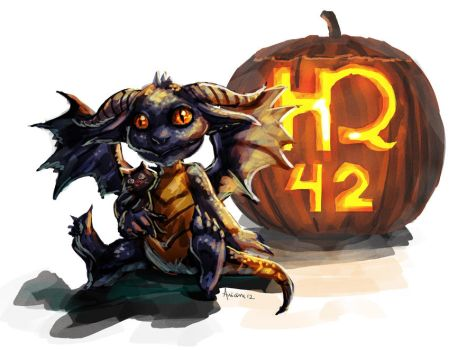 Happy Draconic Halloween by Luaprata91