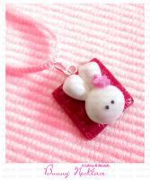 Bunny Square Charm Necklace by ChocoAng3l
