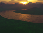 Terragen River Sunset by 0smiler0