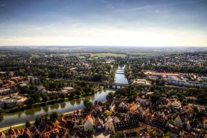 Donau in Ulm, HDR by Ivels