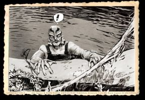 Abe Sapien/Creature From The BlackLagoon by uwedewitt