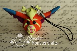 Hand made Gnar cell phone charm by CupCakeMonsterCrafts