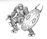 Infantry grunt character by aGiantSalamander