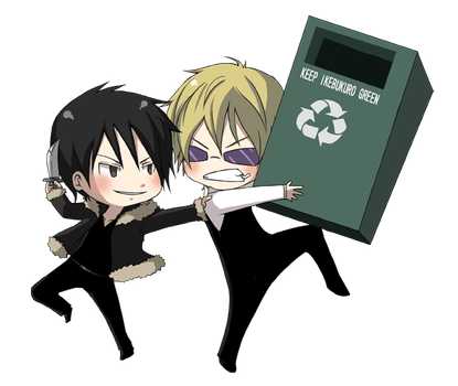 shizaya fighting by CCann