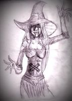 Hecate: First drawing. by We-Are-In-Like-Sin