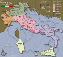 Italia map on CC by Weasel102