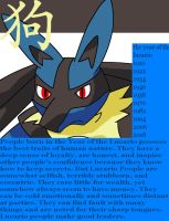 The Year of the Lucario:ZODIAC by XxSlyCatxX