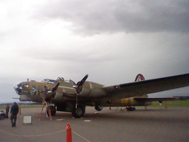 My first picture of, B-17 Nine 0 Nine. by Flutterflyraptor