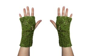 Climbing Leaves Fingerless Mittens by TheSleepyRabbit