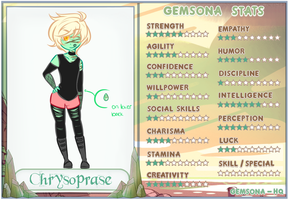 Chrysoprase Redesign/ Stats Sheet by cruorfae