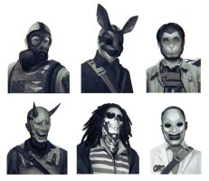 Bank Robber Portraits by yefumm