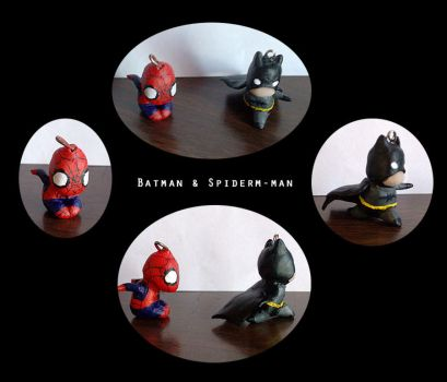 Batman and Spider-man by Oune