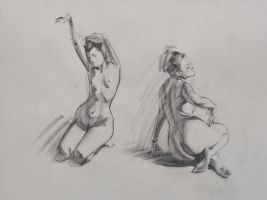 Figure Drawings - Duo by Wildweasel339