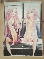 Guilty Crown/Mana and Inori by aBunny15