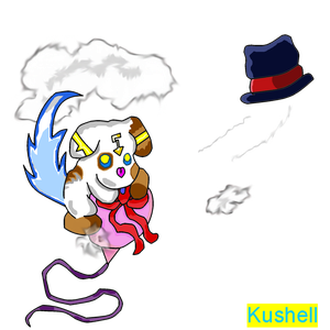 Cyberelf Kushell - Over The Clouds Catch The Hat by Kushell