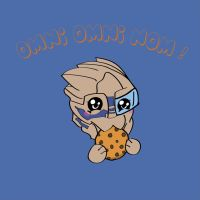 Garrus With Cookie Omni Omni Nom by ComaKelsey