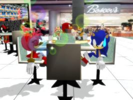 MMD SonAmy - Datepeepers by Trouble-san