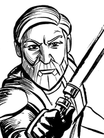 Obi Wan - Clone Wars style by mistermuck