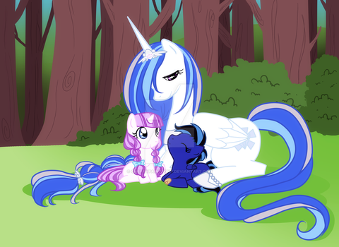 In the quiet forest by CherryPaintPony