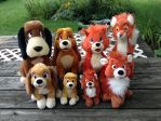 All my Fox and the Hound plushies by Laurel-Lion