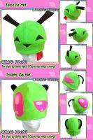 Gir and Invader Zim Fleece Hats by AnimeNomNoms