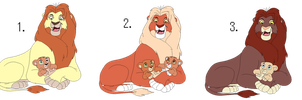 Proud lion father adoptables #1 0/3 CLOSED by Hoophipo