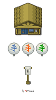 Japanese Pokemon Tileset by Lava-Plume
