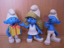 Smurfs - Smurfette, Jokey and Vanity by sunto2