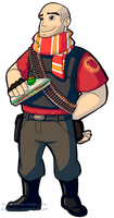 Heavy LoadOut by JuliSketch