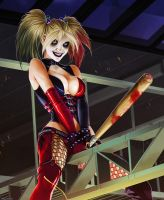 Harley Quinn - Bat ''Man'' Detail by ghostfire