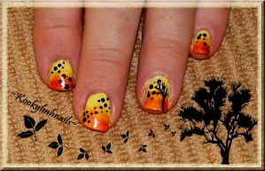 Falling Leaves Nail Design by KookylmhNails