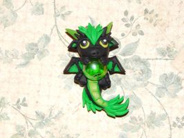 Green Dragon with Marble by XDtheBEASTXD