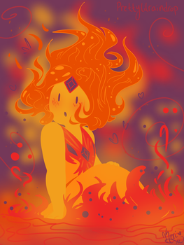 Flame Princess by RainbowSkittleDrops