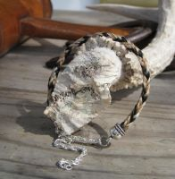 Braided Horsehair Bracelet - Judge and Sunday by TarpanBeadworks
