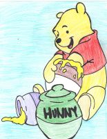 winnie the pooh with honey by Paigep0412
