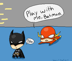 Play with me, Batman by panon