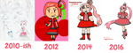 Never Give Up (Art Improvement from 2010 to 2016) by PeggyWhynowhy