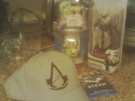 My Gamestop Stuff I bought on Halloween by Dragonrage19