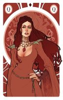 Game of Thrones' cards | Queen Melisandre by SimonaBonafiniDA