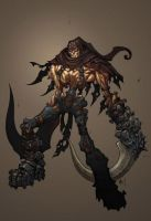 darksiders skeletton art by chris-seto1