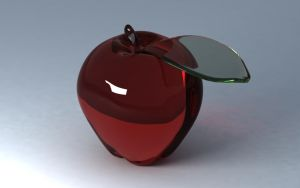 A glass apple by Mironor