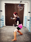 Standing Her Ground-RE2 Claire Redfield Cosplay by Hamm-Sammich