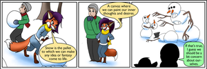 Snowmen - Rick and Mistel by rodrev