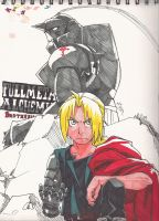 FMA Brotherhood sketch book by Marimokun