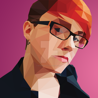 Low-Poly Self Portrait by kyofanatic1