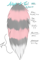 Adopt-A-Tail 001: Pink/Grey Stripe (OPEN!) by Xecax