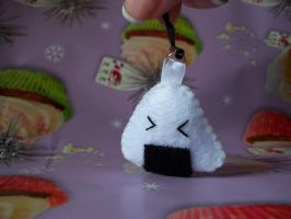 Onigiri Keychain by omgtoasties
