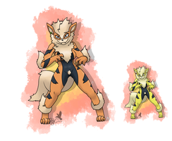 no.059 Arcanine by pitch-black-crow