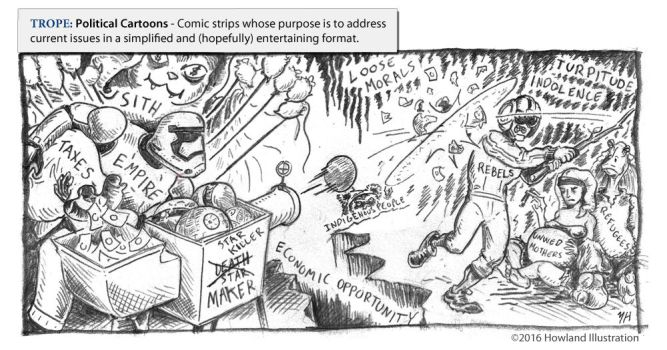 Twisted Tropes Political Cartoons by MikeHowland